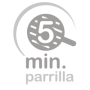 5 minutos en parrilla