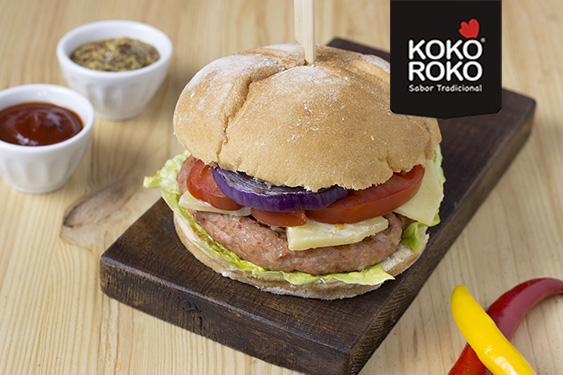 Burger kebab de pollo KOKOROKO PAASA