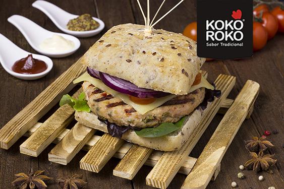 Burger verduras de pollo KOKOROKO PAASA