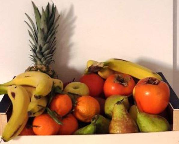 coge tu pieza de fruta y sonríe