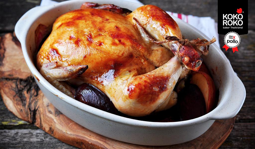 Receta: Pollo al Horno con Manzana y Ciruelas