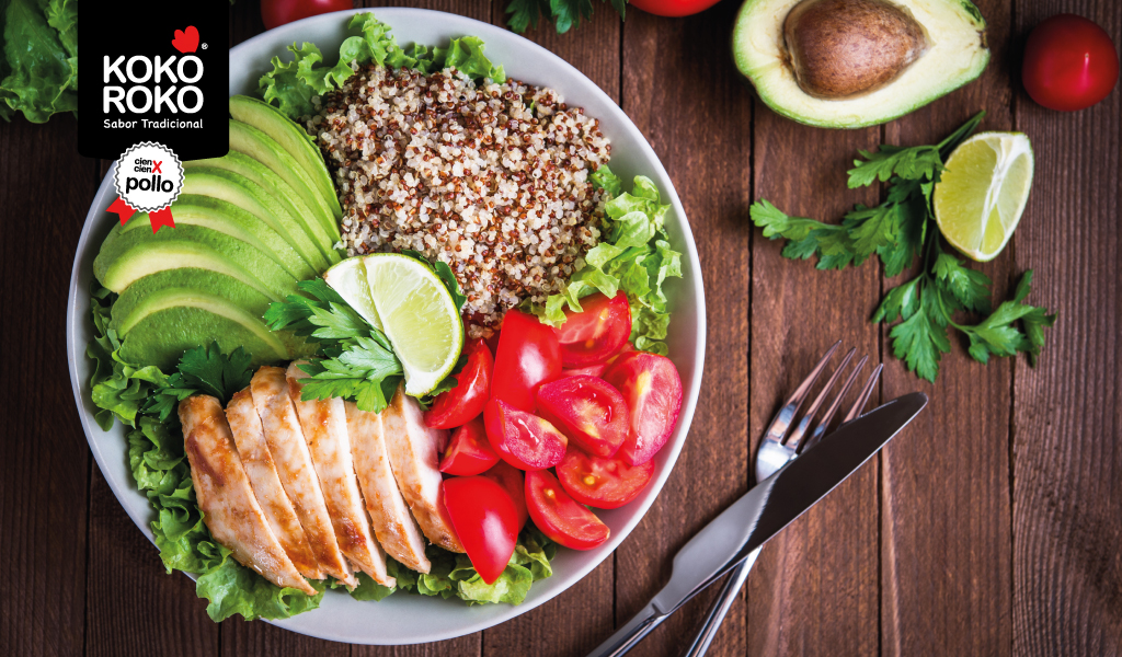 Receta: Ensalada de pollo y quinoa