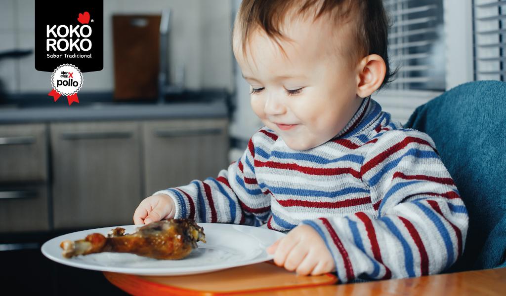 ¿Cuál es el papel de la carne de pollo en la alimentación infantil?