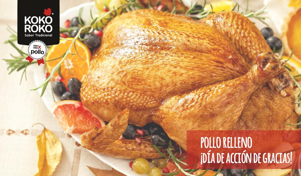 Pollo relleno y… ¡a celebrar Acción de Gracias!