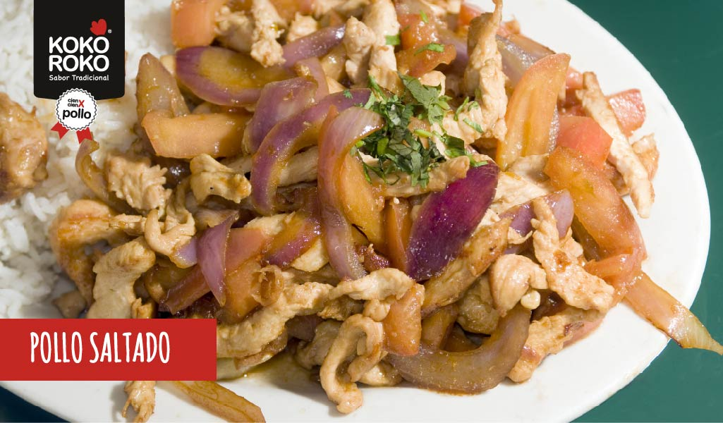 Receta peruana: pollo saltado