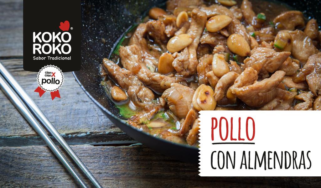 Pollo con almendras chino, otro clásico de la gastronomía asiática