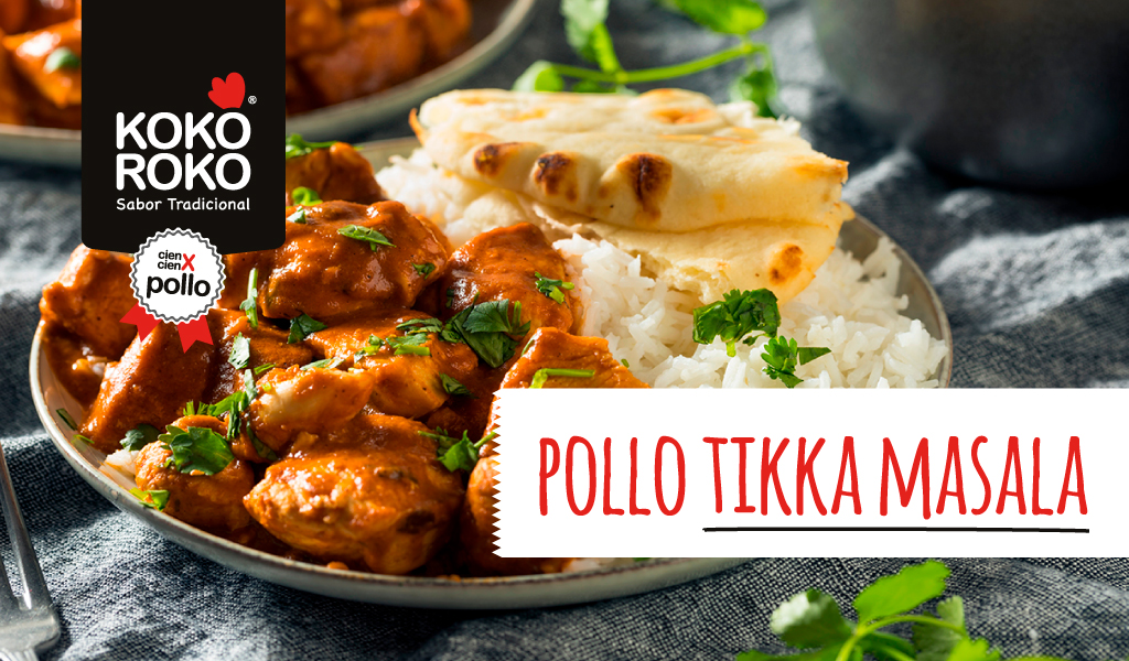 Pollo tikka masala con arroz basmati y... ¡a chuparse los dedos!