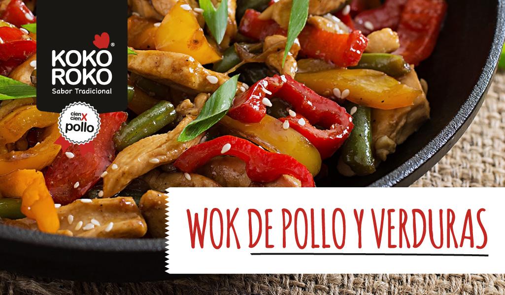 Wok de pollo con verduras, una receta sencilla y muy saludable