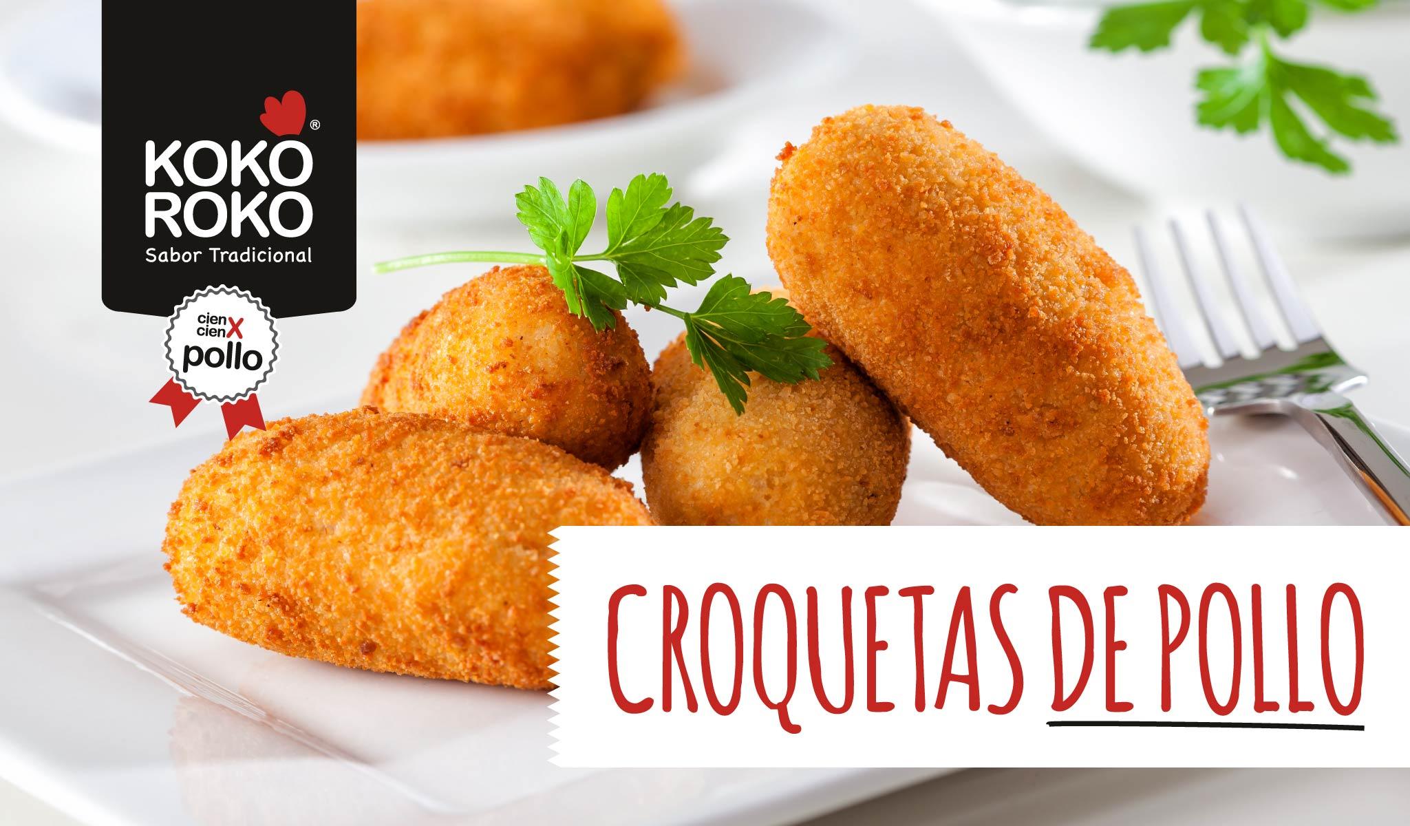 Croquetas de pollo asado y huevo cocido