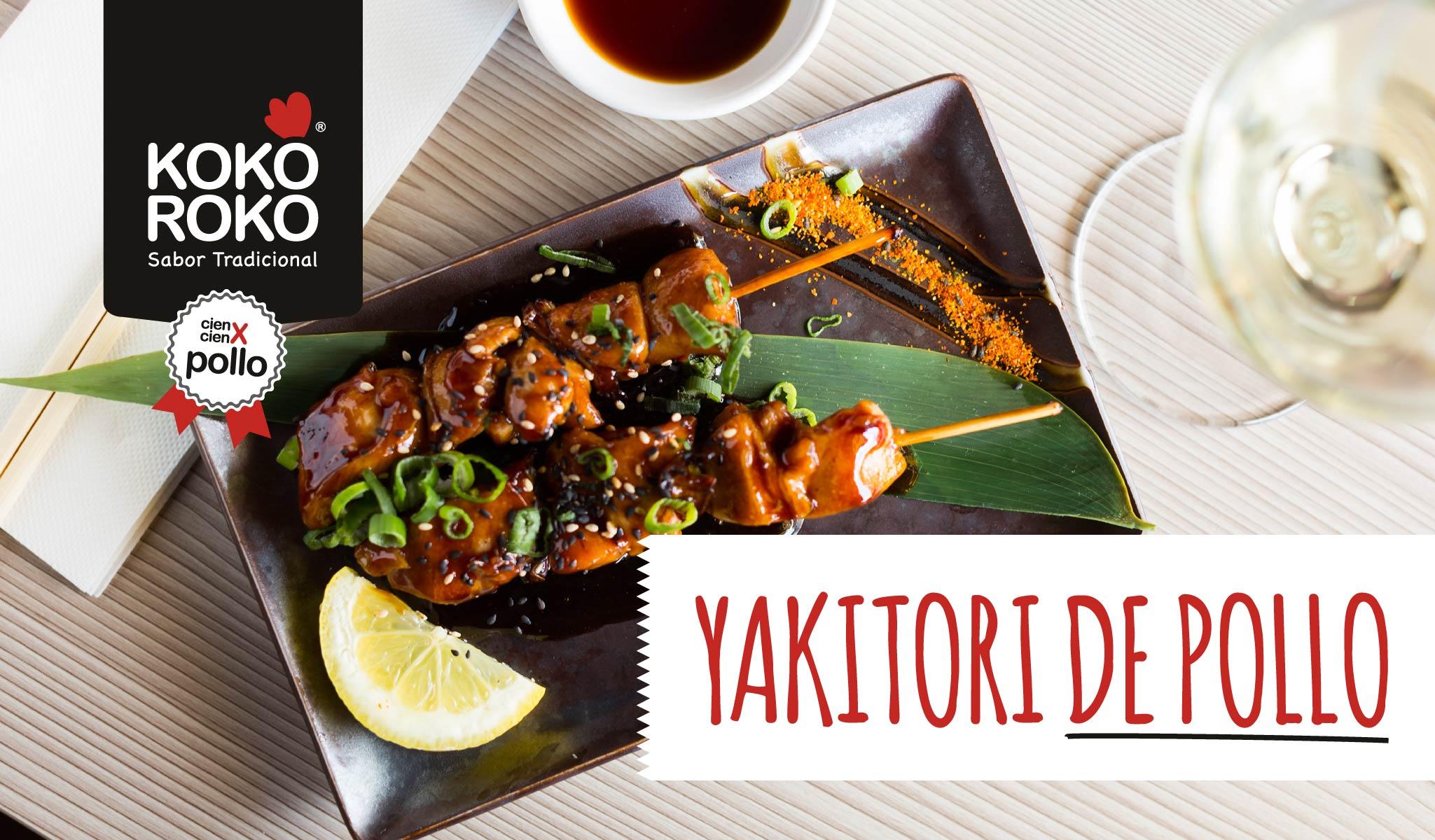 Pollo Yakitori, el plato perfecto para las reuniones de amigos