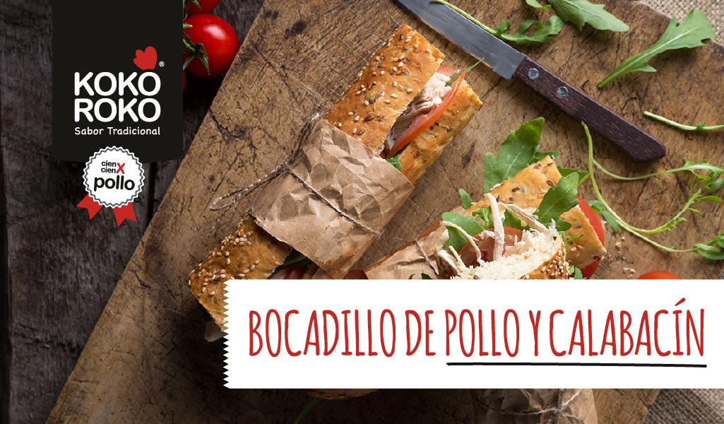 Bocadillo de pollo y calabacín de Karlos Arguiñano