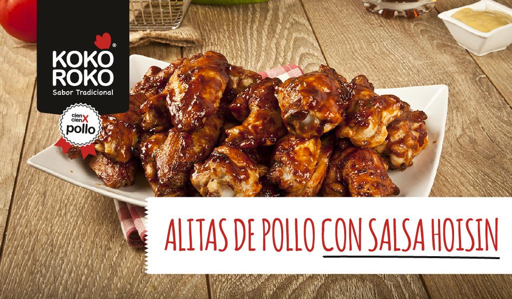 Alitas de pollo en salsa hoisin al estilo casero