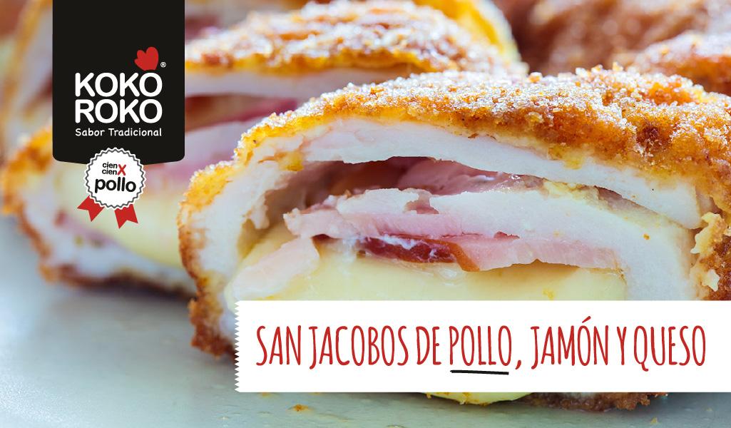 San jacobos de pollo con jamón y queso