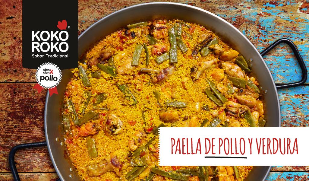 Paella de pollo y verdura, una de las recetas más populares de España