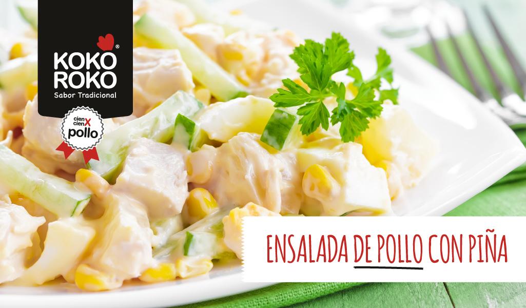 Ensalada de pollo con piña, una receta tropical