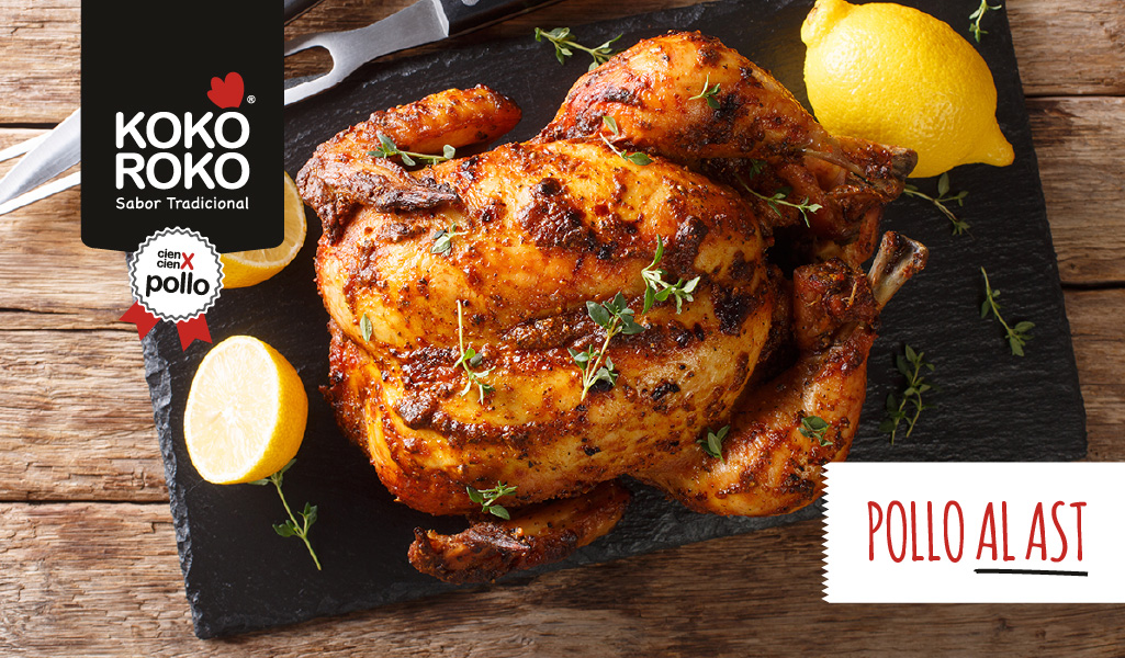 Pollo al ast, el pollo asado más tierno y jugoso