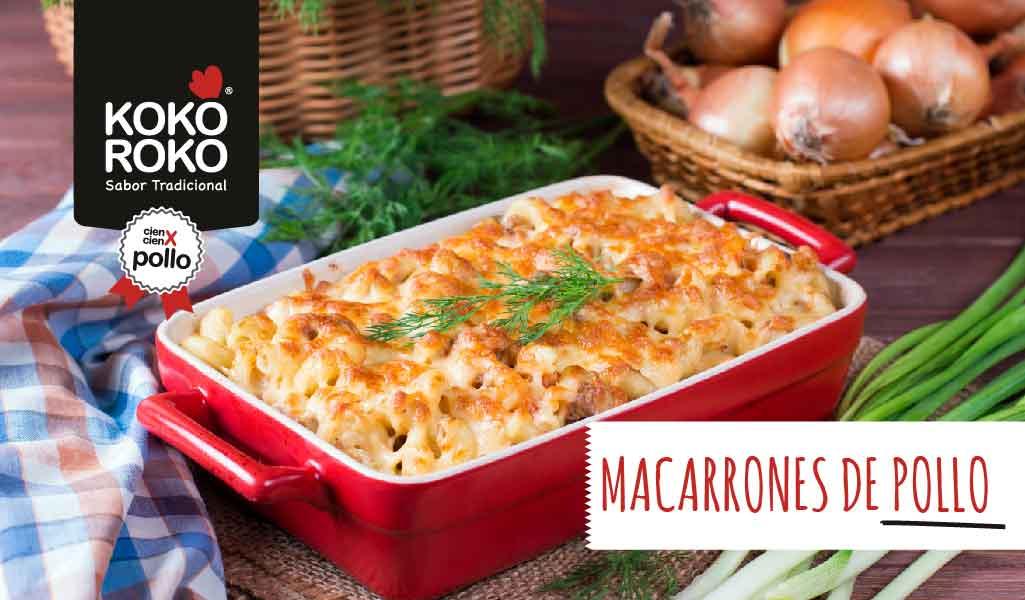 receta-macarrones-pollo