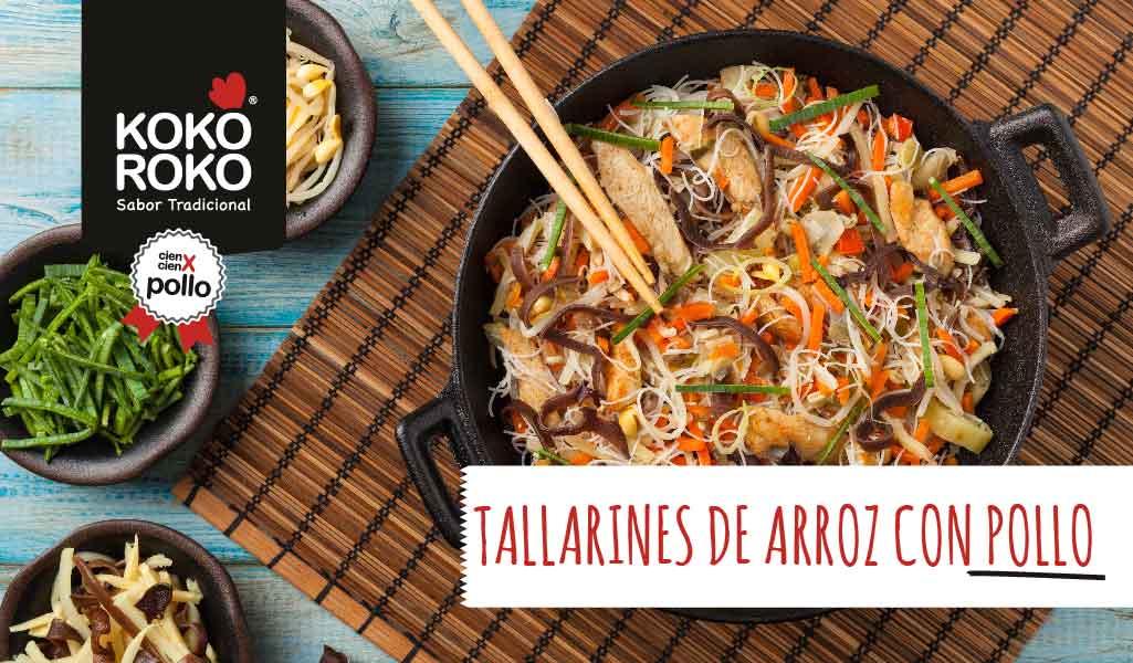 Tallarines-arroz-pollo